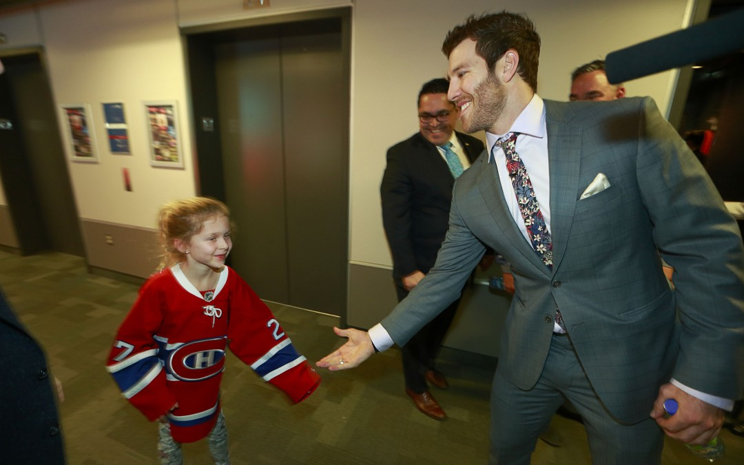 Prust, most popular guy in the house in his return to Montreal